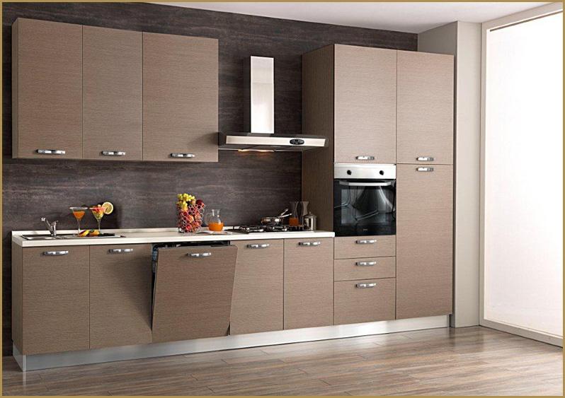 Cucina componibile 3 60 mt con elettrodomestici moderna - Cucine senza elettrodomestici ...