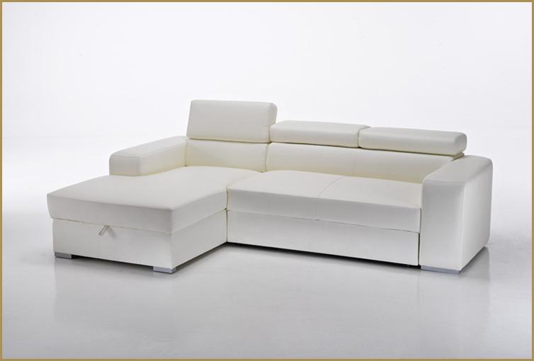 Divano letto angolare moderno in ecopelle salotto - Divano letto angolare divani e divani ...