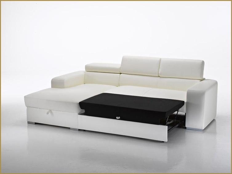 Divano letto angolare moderno in ecopelle salotto for Divano ad angolo usato