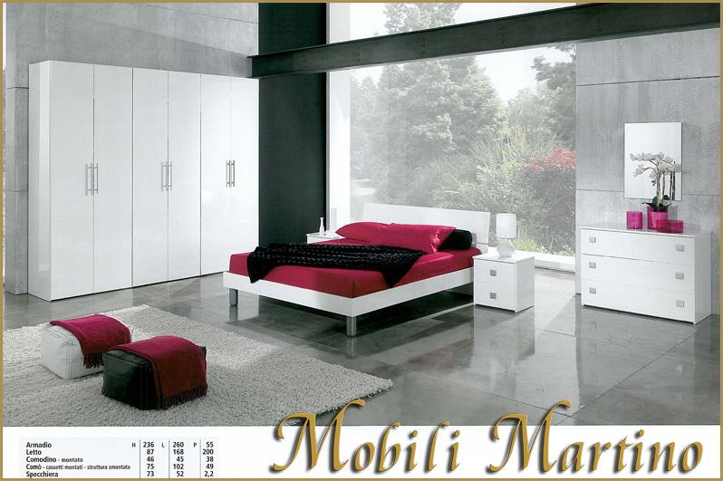 Camera da letto matrimoniale completa moderna bianca for Camera letto ebay