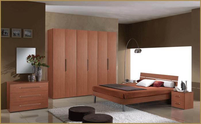 Camera da letto matrimoniale completa colore legno - Letto in ciliegio ...
