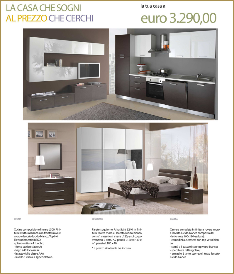 Arredamento completo moderno cucina camera da letto parete attrezzata 3bvxn0hh lotti e stock - Camera da letto arredamento moderno ...