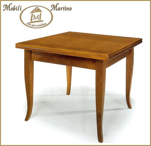 Tavolo quadrato a libro in legno arte povera noce 90x90 - Tavolo quadrato allungabile ikea ...