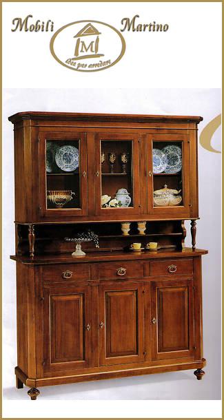 credenza napoletana arte povera in legno massello