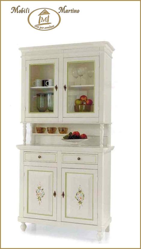 Credenza napoletana bianco anticato in legno massello - Mobili legno bianco anticato ...