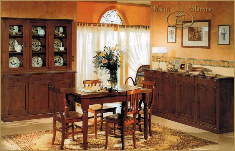 Sala da pranzo completa credenza contromobile tavolo sedie - Quadri per sala da pranzo ...